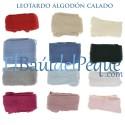 Leotardo Calado Lateral Rojo 550  Algodón Cálido de Cóndor