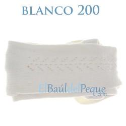 Leotardo Calado Lateral Blanco 200 Algodón Cálido de Cóndor