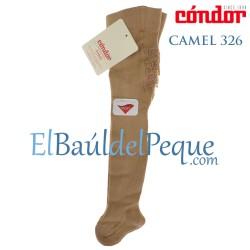 Leotardo Bebé Camel 326 con Puntilla en el Culete