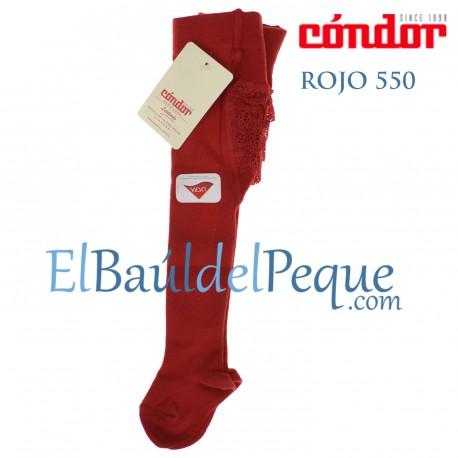Leotardo Bebé Rojo 550 con Puntilla en el Culete