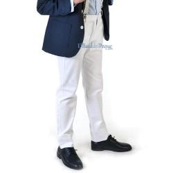 VARONES Pantalón Blanco Niño Sarga
