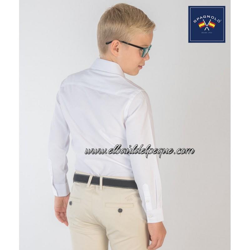 Camisa Spagnolo A Blanca Cutaway Infantil Fil Moda Niño F1cKlJ