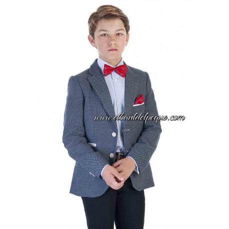 Camisa Niño Celeste Mil Rayas con Gemelos de Varones