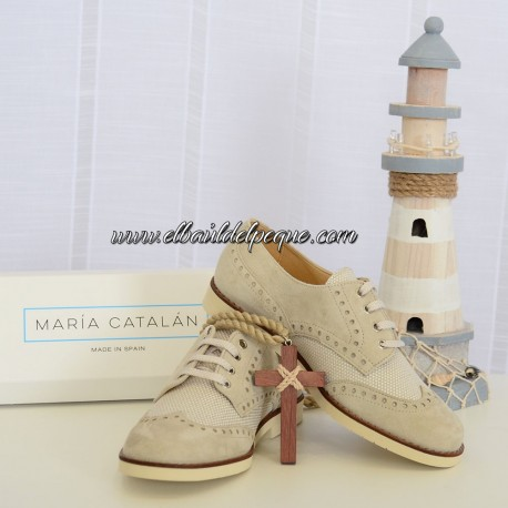 Zapato Niño Ante Reforzado Siberia Lino María Catalán