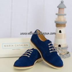 Zapato Niño Cordón Azulón Limoges María Catalán