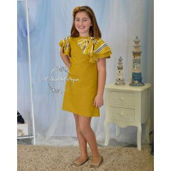 Vestido Mostaza Eve Children Bee