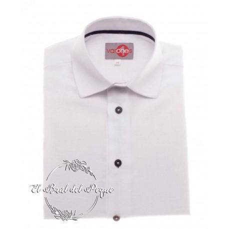 Camisa Blanca Cuello Italiano Niño Varones One
