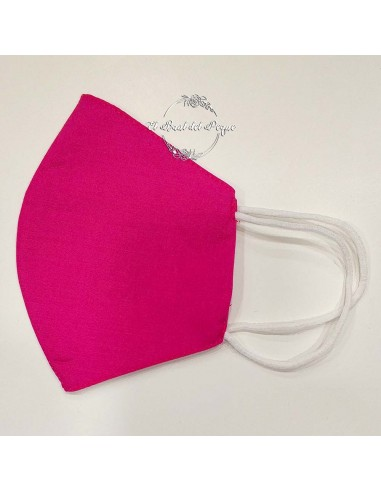Mascarilla Lavable Lisa Fucsia con...