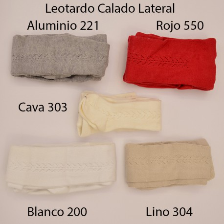 Leotardo Calado Lateral Algodón Cálido Rojo 550 de Cóndor