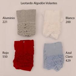 Leotardo Bebé Azul Claro 429 con Puntilla en el Culete
