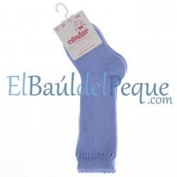CONDOR Calcetines Altos Perlé Azulado 446