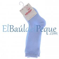CONDOR Calcetines Altos Perlé Azul Bebé 410