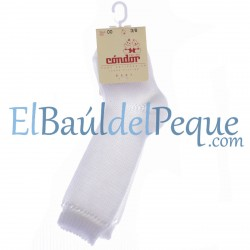 CONDOR Calcetines Altos Perlé Blanco 200