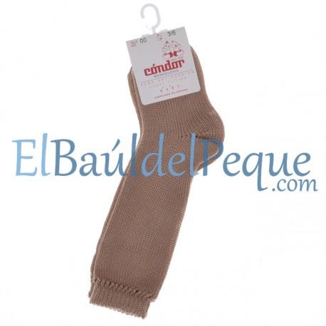 CONDOR Calcetines Altos Perlé Camel 326