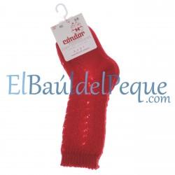 CONDOR Calcetines Altos Calados Rojo 550